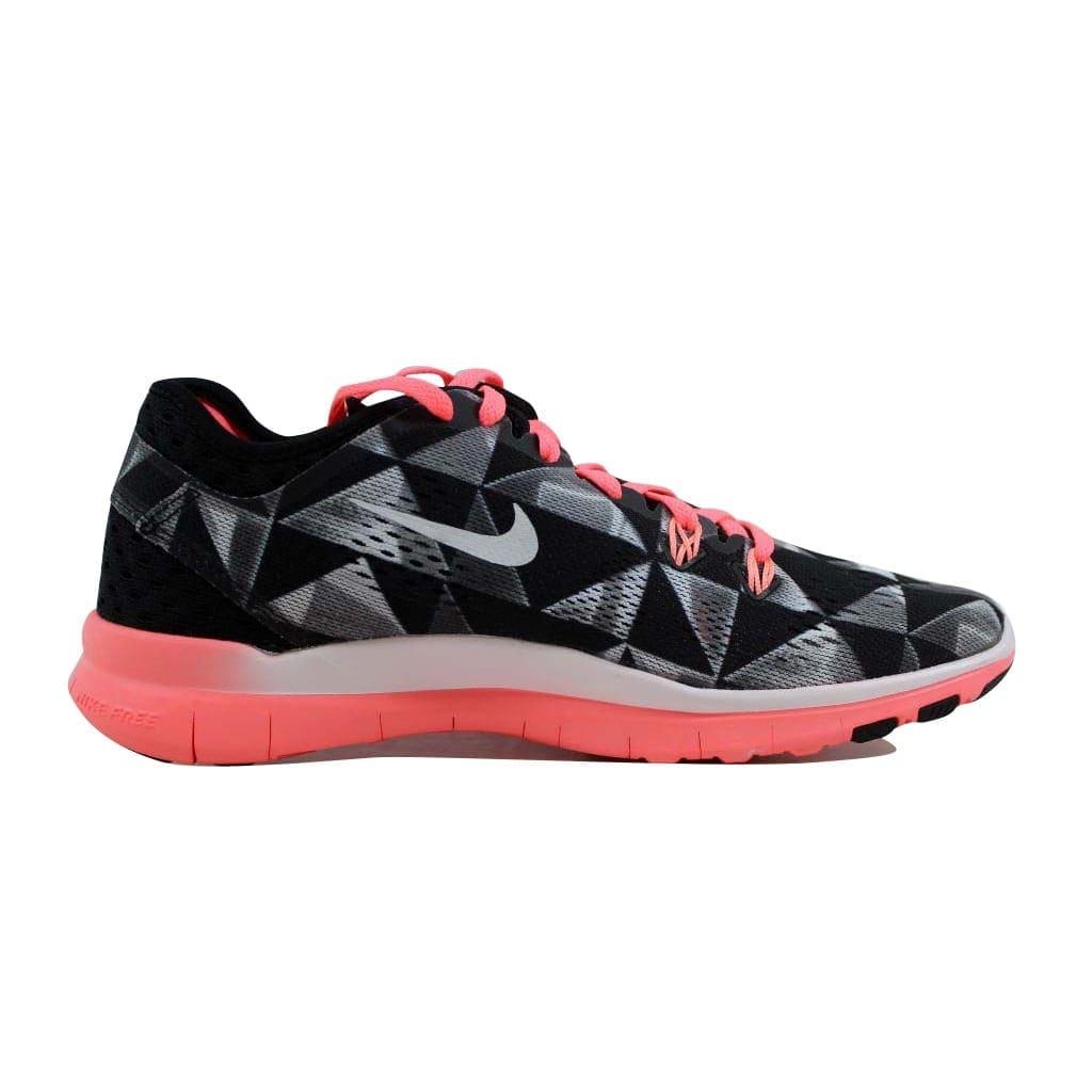 low priced 005d8 e0568 Nike Women's Free 5.0 TR Fit 5 Print Black/White-Lava Glow 704695-006 Size  6.5