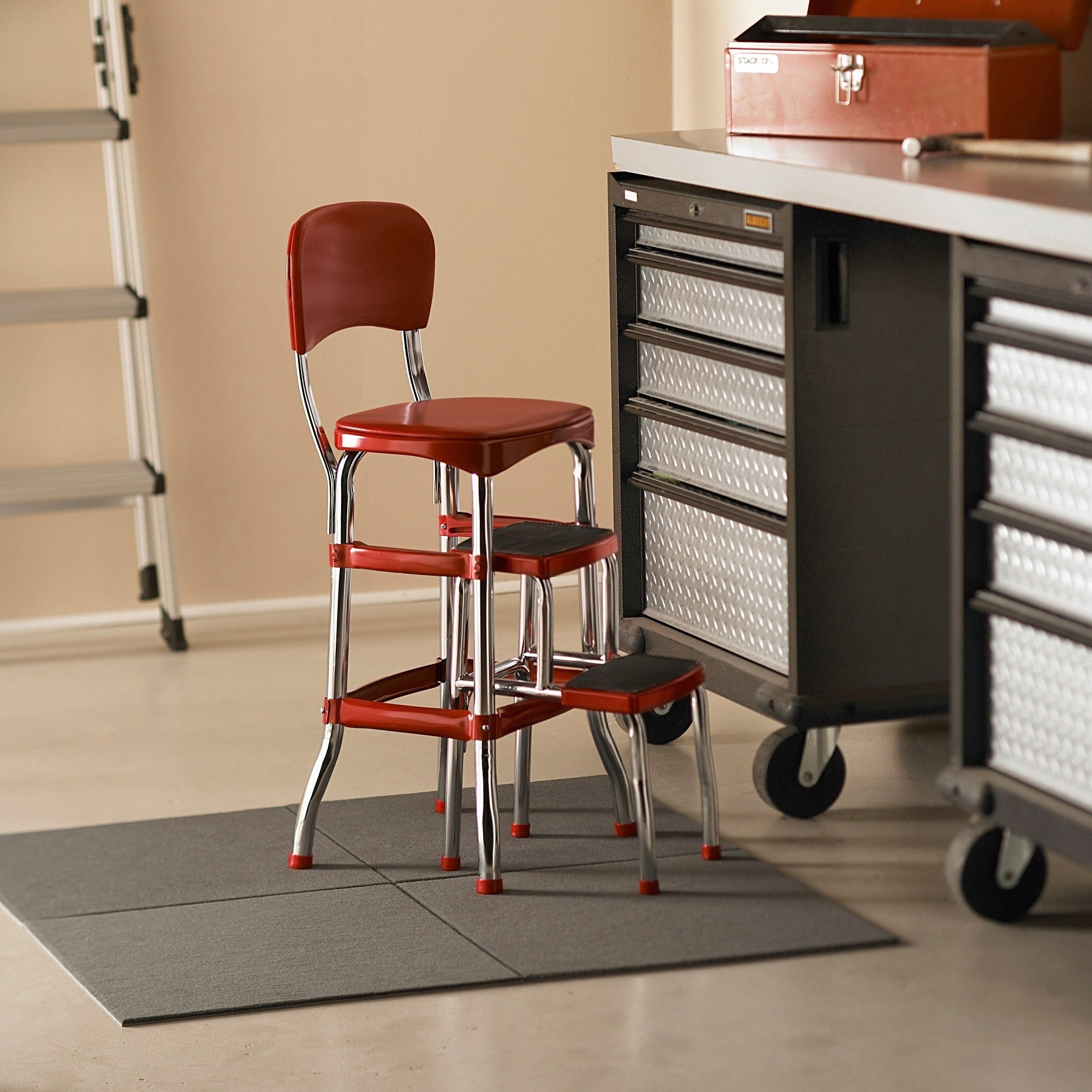 Cosco Retro Vintage Convertible Counter Chair Step Stool Overstock 8026500