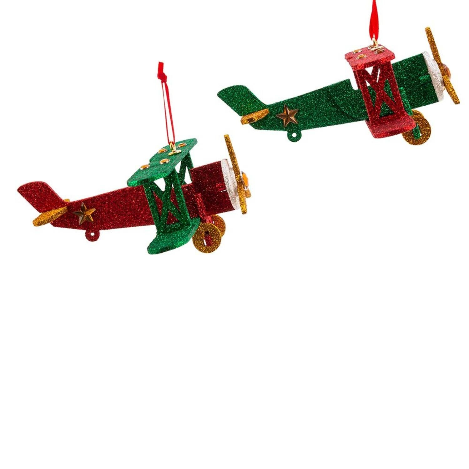 airplane christmas ornaments