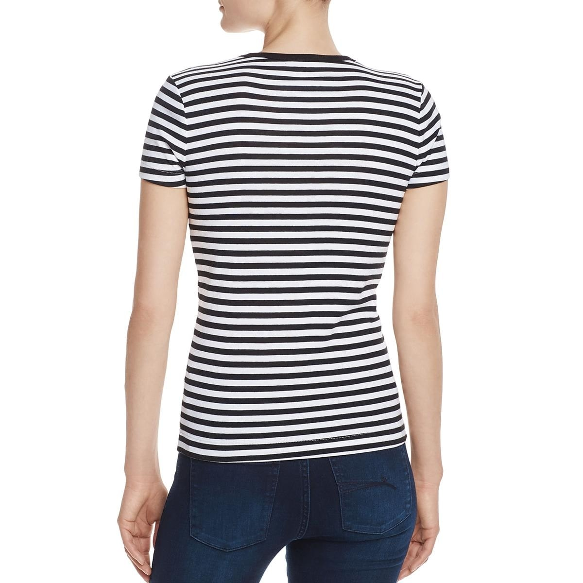 35a95de4 Shop Three Dots Womens Kennedy T-Shirt Striped Short Sleeve - Free Shipping  On Orders Over $45 - Overstock - 22817303