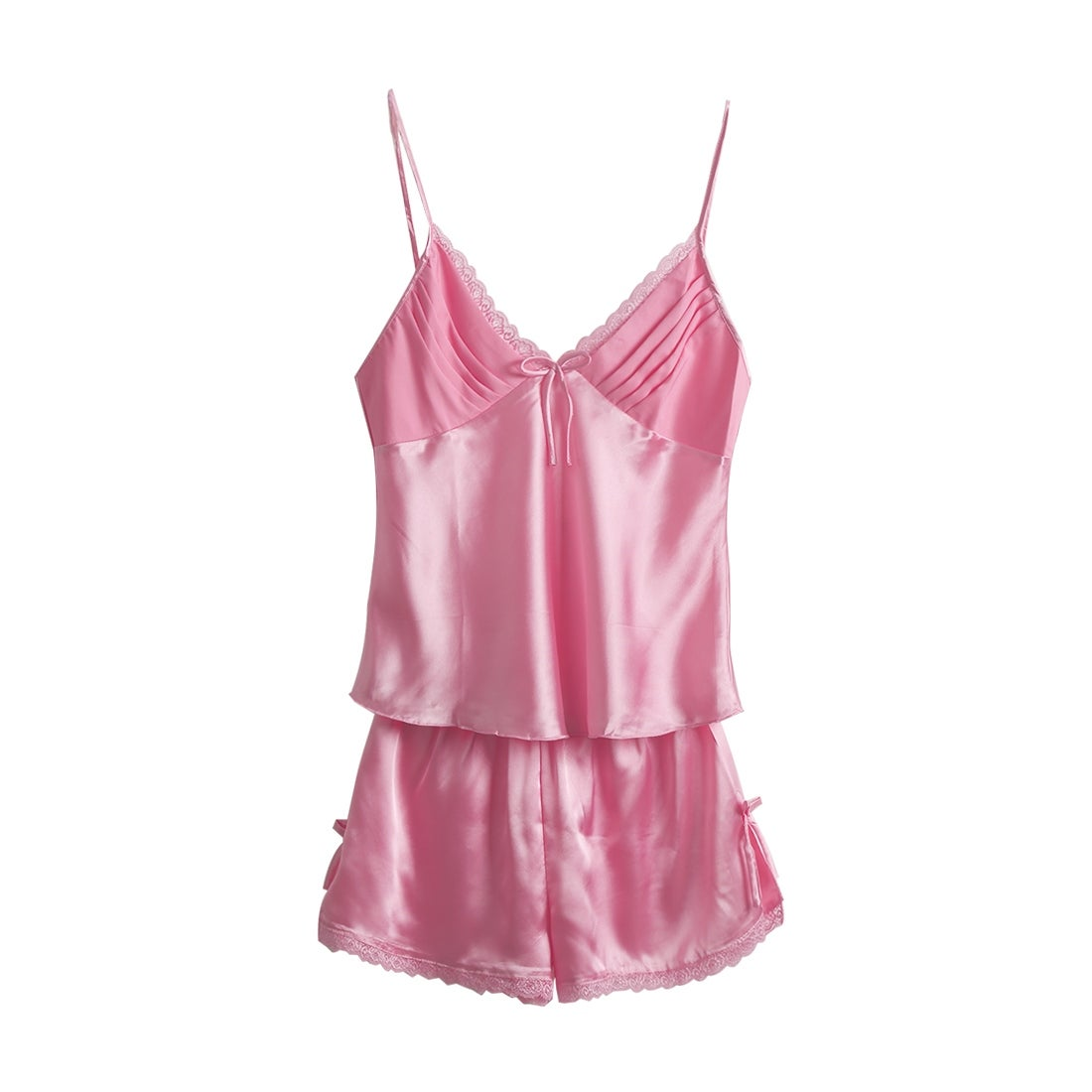 f9069b436 Shop Women Sexy Lace Silk Satin Camisole Shorts Pajama Sleepwear Sets - On  Sale - Free Shipping On Orders Over $45 - Overstock - 23162382