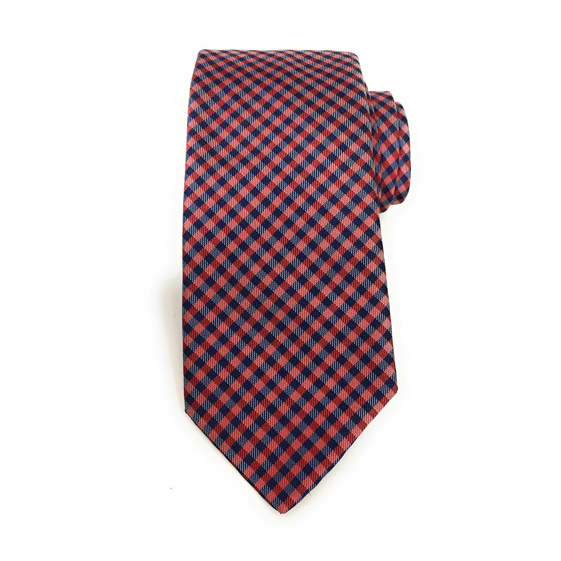 e62e36954 ... coupon for shop boss hugo boss new red blue mens one size gingham  skinny neck tie