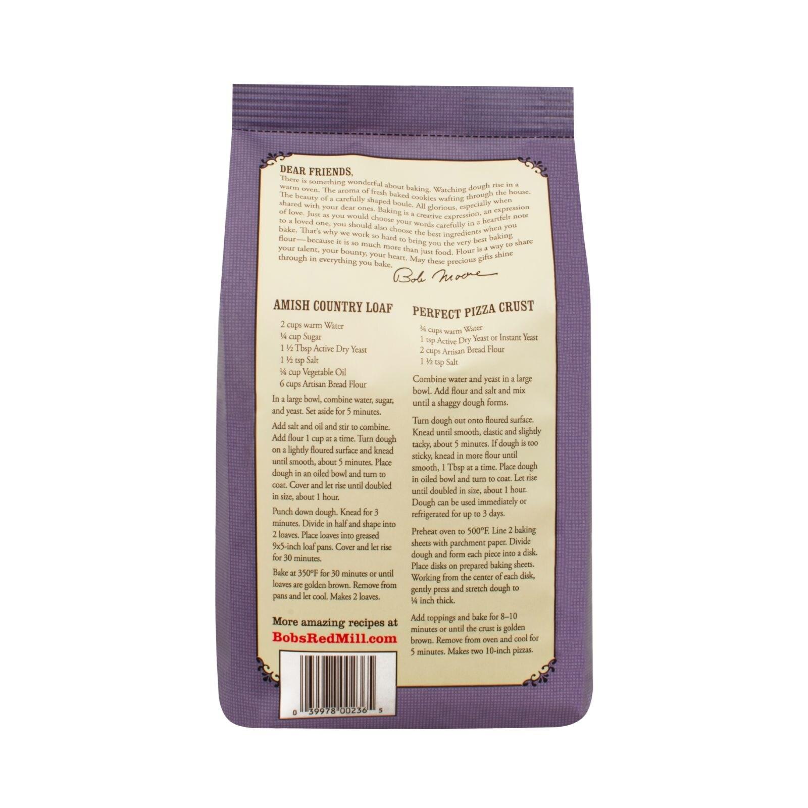 Shop Bob s Red Mill Artisan Bread Flour 5 lb Case of 4 Free