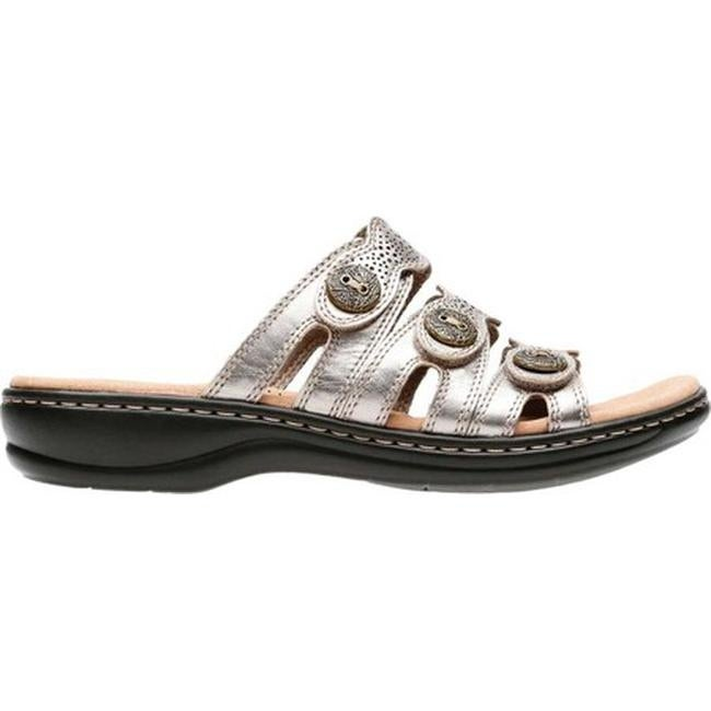 206d23d66940 Shop Clarks Women s Leisa Grace Strappy Slide Pewter Metallic Full Grain  Leather - On Sale - Free Shipping Today - Overstock - 20658372