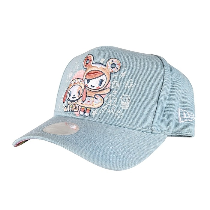 e5c470530e7 Tokidoki Embroidered Donut New Era 9Forty Women s Blue Denim Snapback Hat  OSFM