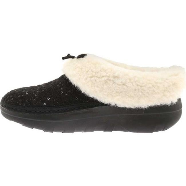 b514d7479 Shop FitFlop Women s Loaff Snug Slipper Black Sequin Felted Textile - Free  Shipping On Orders Over  45 - Overstock - 20110503