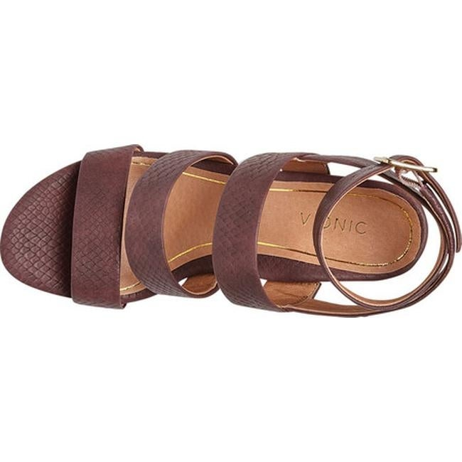 054a48188917 Shop Vionic Women s Blaire Strappy Sandal Merlot Snake Leather - Free  Shipping Today - Overstock - 25605549