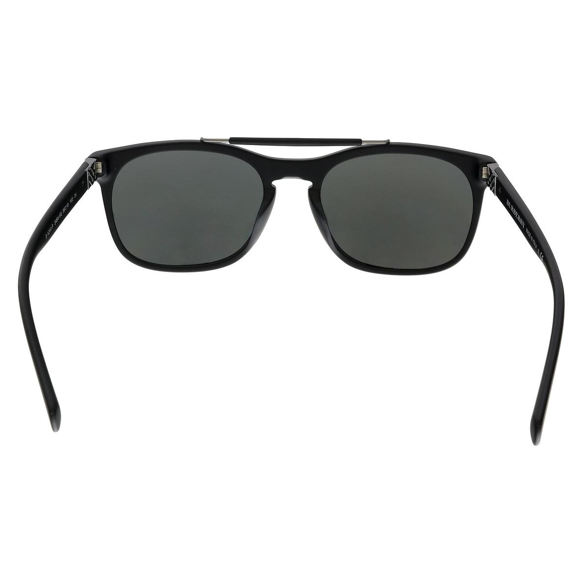 d1479a1d56e Shop Burberry BE4244 34646G Matte Black Rectangular Sunglasses - No Size -  Free Shipping Today - Overstock - 24081514