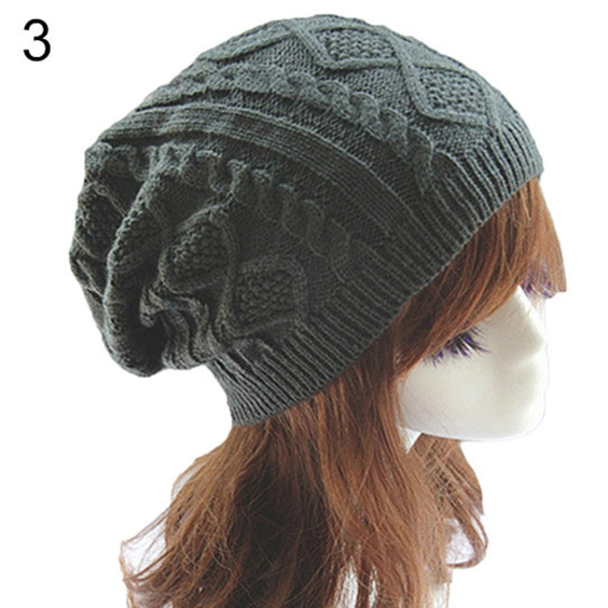 611926aaecb Shop Lady Women s Knit Winter Warm Crochet Hat Braided Baggy Beret Beanie  Cap - Free Shipping On Orders Over  45 - Overstock.com - 23172784
