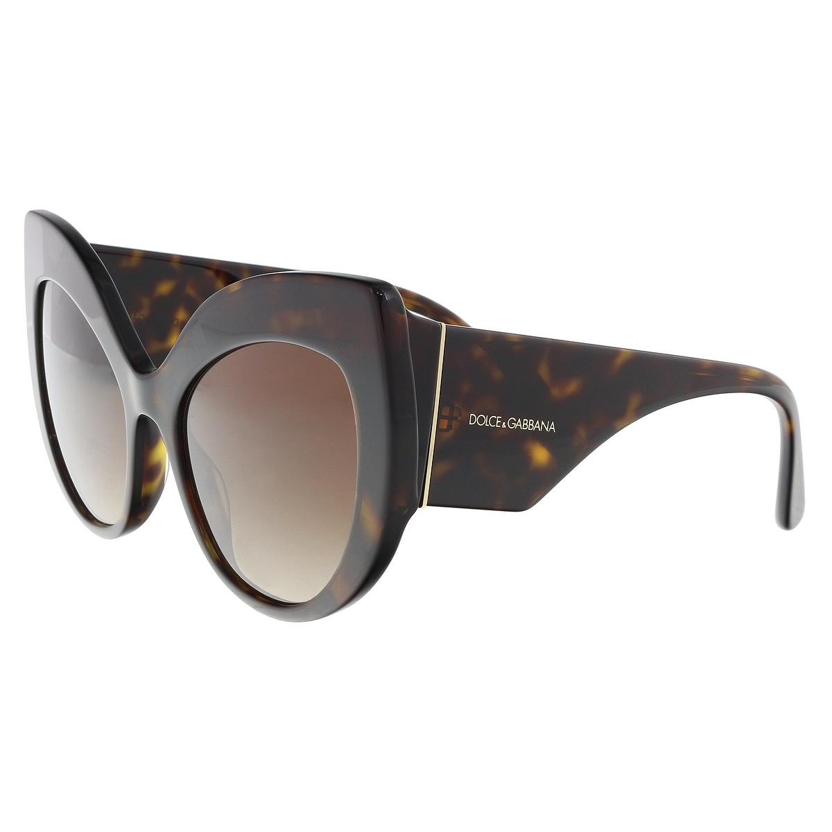 8396683a03f5 Shop Dolce & Gabbana DG4321 502/13 Havana Cat Eye Sunglasses - 55-20 ...