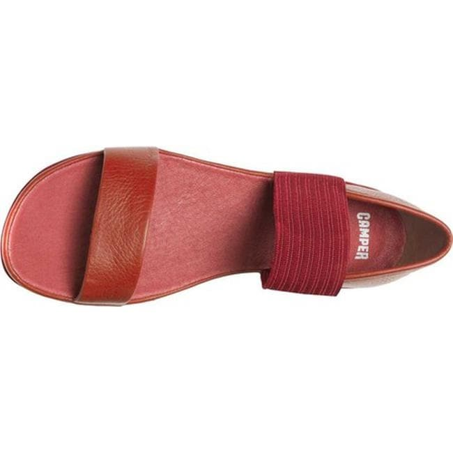 822ad95798 Shop Camper Women s Right Nina Sandal Medium Red Leather - Free Shipping  Today - Overstock.com - 26967197