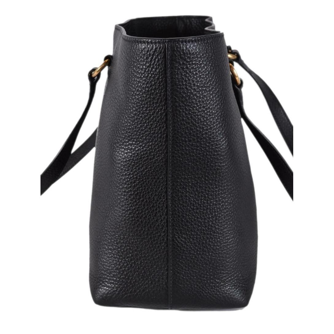 50a1a6744d63 Shop Prada 1BG100 Black Leather Vitello Daino Embossed Logo Shopper Purse  Tote - Free Shipping Today - Overstock - 26975682