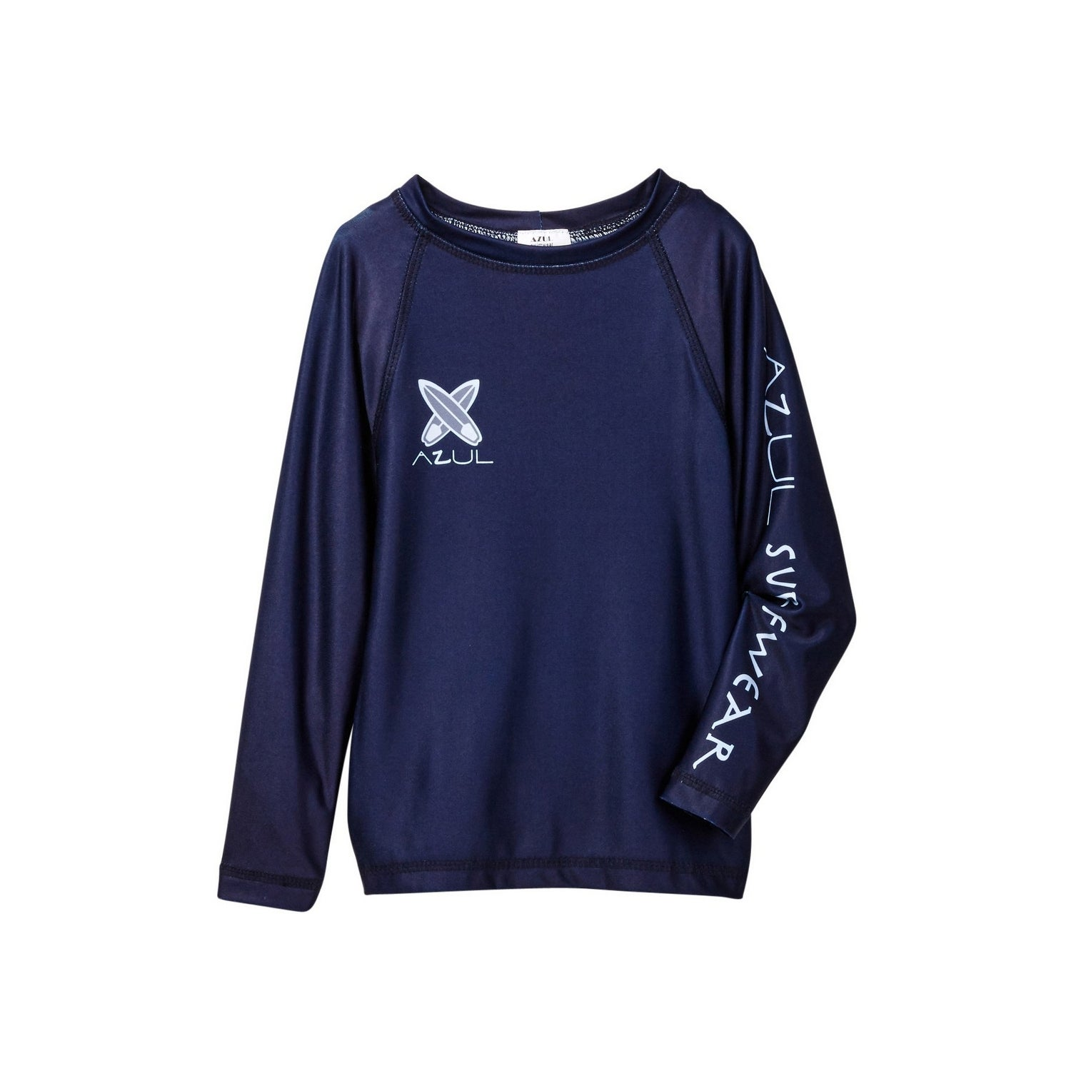 09aa27f748 Shop Azul Baby Boys Navy Solid Color Logo Detail Long Sleeve Rash Guard -  18-24 Months - Free Shipping On Orders Over $45 - Overstock - 25489812