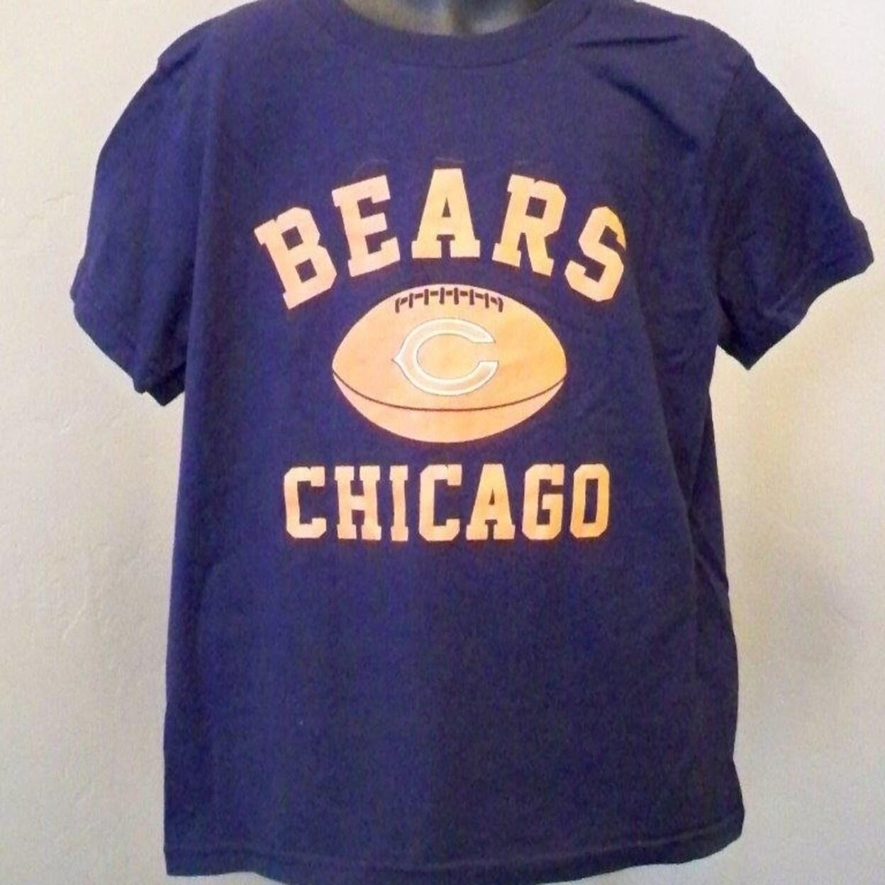 337562a6 Minor Flaw-Chicago Bears Kids Medium 5/6 Blue Shirt
