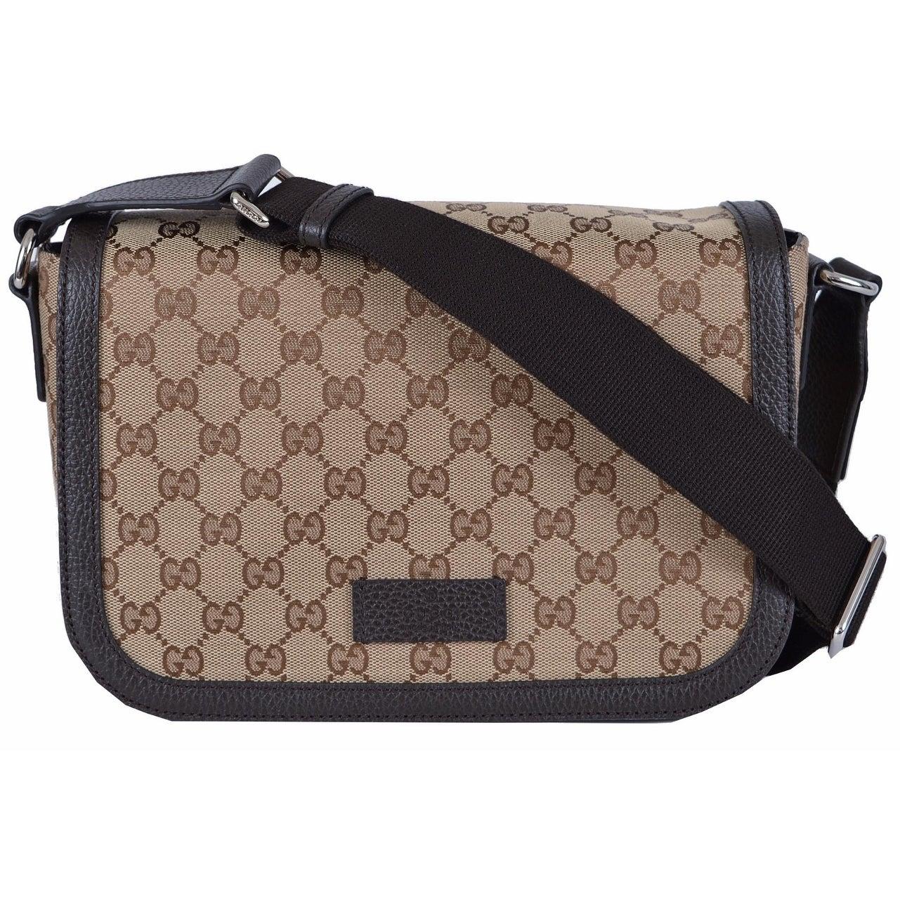 11f6aeac48a Shop Gucci 449172 GG Guccissima Canvas Medium Crossbody Messenger Bag Purse  - Brown - Free Shipping Today - Overstock - 13218759