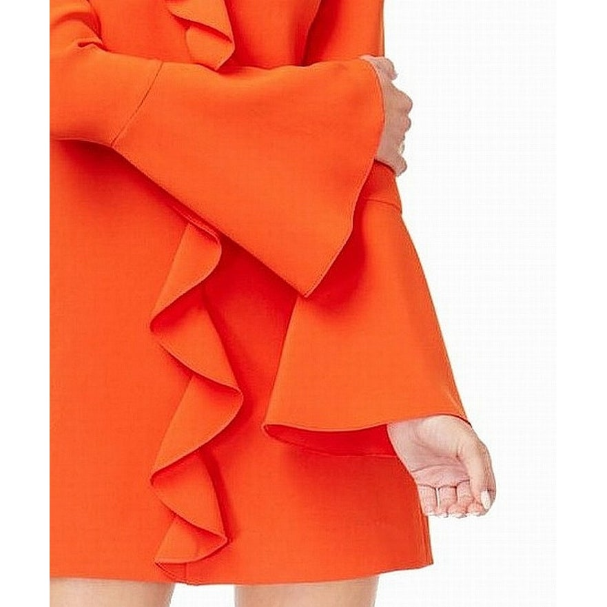 12c9a4b812c Shop Rachel Zoe Orange Women s Size 10 Ruffle Bell Sleeve Shift ...