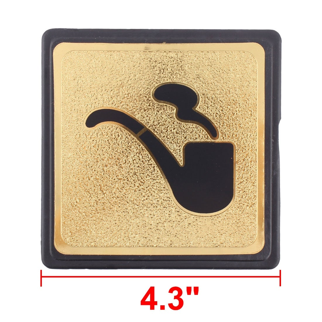 Black Gold Tone Plastic Smoking Sign Board w Adhesive Tape - Free ...