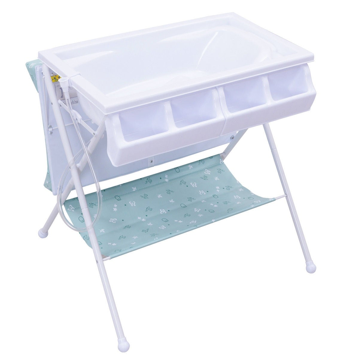 Costway Infant Baby Bath Changing Table Diaper Station Nursery ...