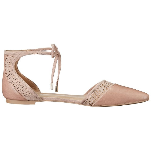 19e3f3b3d4d Shop Franco Sarto Womens shirley Leather Pointed Toe Ankle Strap Slide Flats  - Free Shipping On Orders Over  45 - Overstock - 17629964