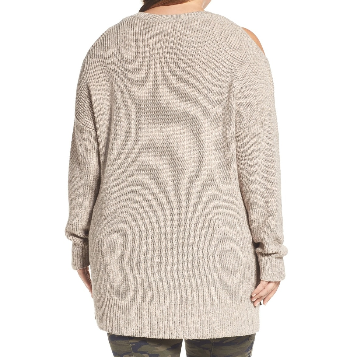 cc256e1b77 Shop Caslon Women s Plus Cold Shoulder V-Neck Sweater - Free Shipping On Orders  Over  45 - Overstock - 22308662