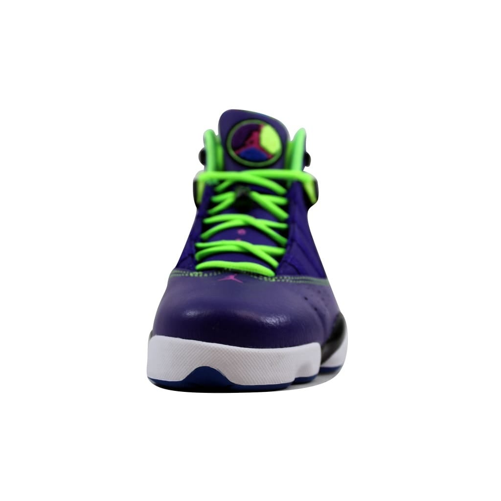 ee05872e06e Shop Nike Men's Air Jordan 6 Rings Court Purple/Club Pink-Black-Flash Lime  Bel-Air 322992-515 Size 10 - Ships To Canada - Overstock - 22919300