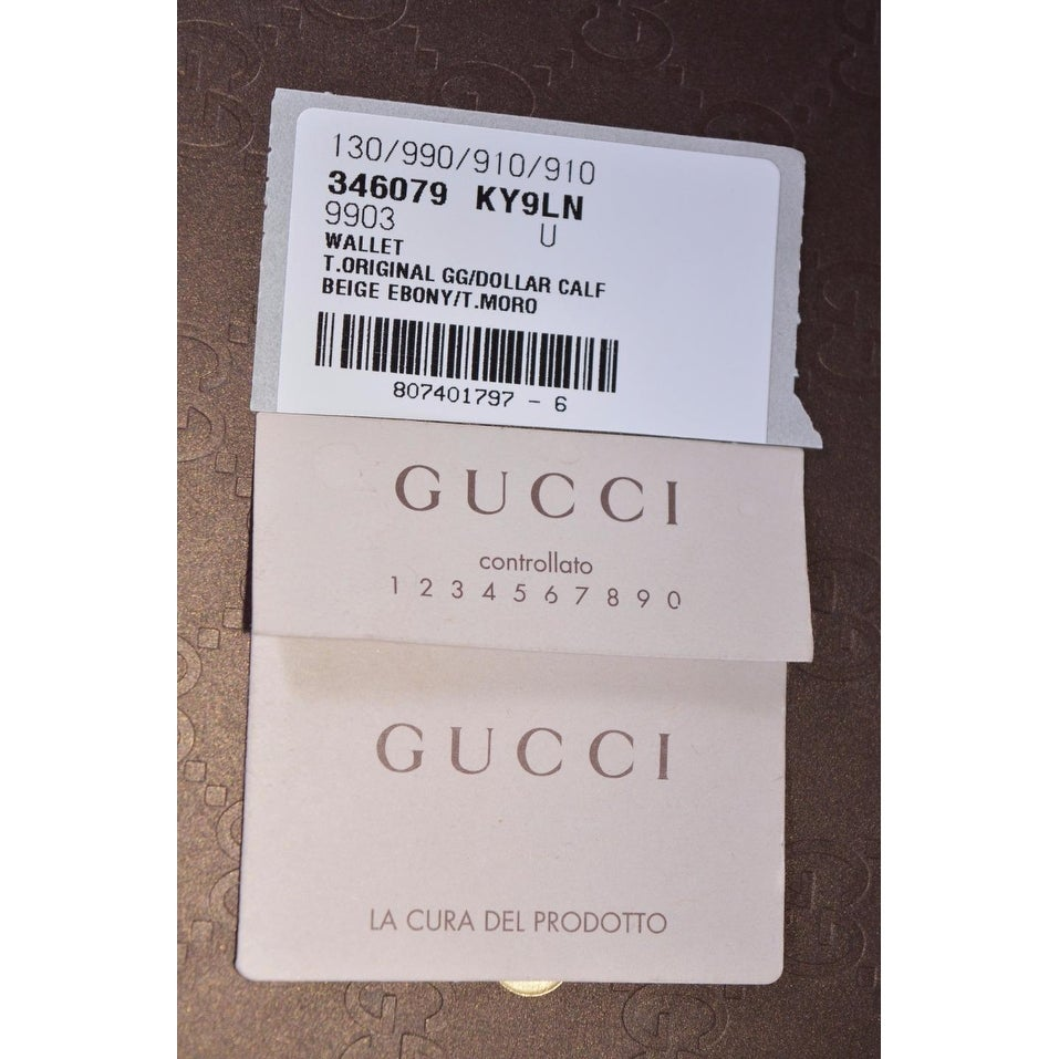 fbe2d5f28acf13 Shop Gucci Men's 346079 Beige Canvas GG Guccissima Passport Holder Bifold  Wallet - 5.75