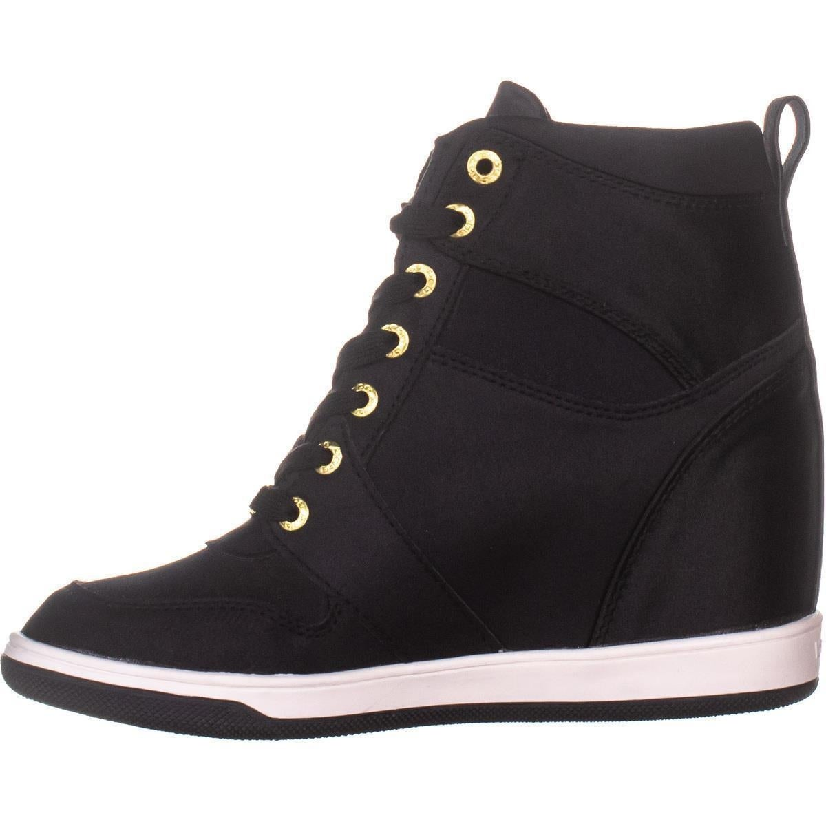 71d48fe9855 Shop Bebe Charlane Wedge Sneakers, Black - Free Shipping Today - Overstock  - 27347050