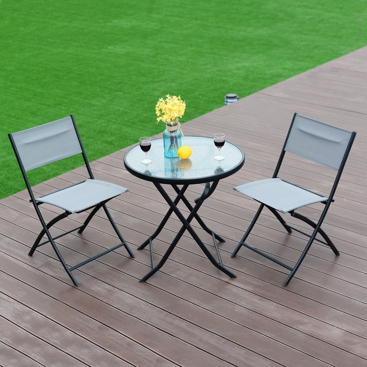 outdoor patio folding table royal cafe dining chairs set ibis