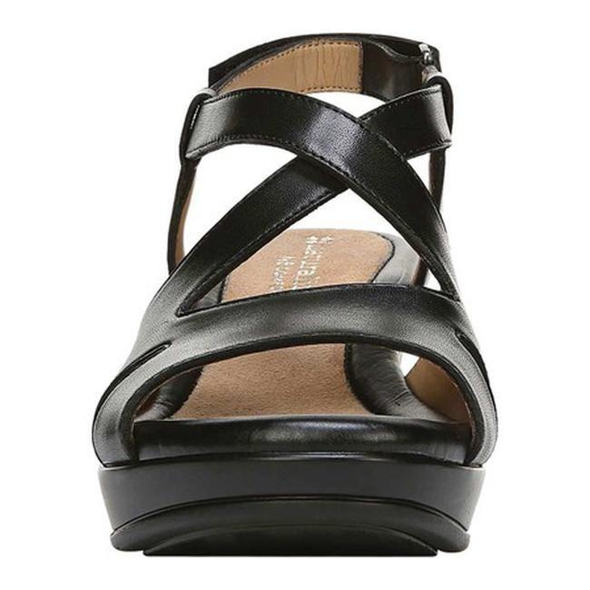 415fd36b36c0 Shop Naturalizer Women s Villette Quarter Strap Sandal Black Leather - Free  Shipping Today - Overstock.com - 21691965