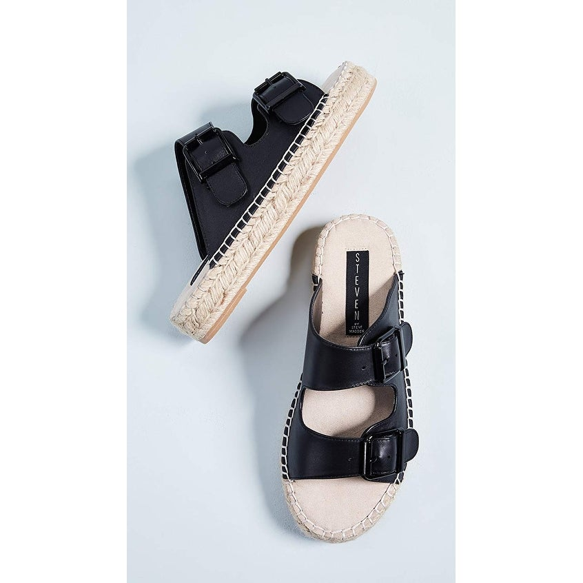 5842a47bd728 Shop Steven by Steve Madden Womens Lapis Leather Open Toe Casual Espadrille  Sandals - Free Shipping On Orders Over  45 - Overstock - 24030566