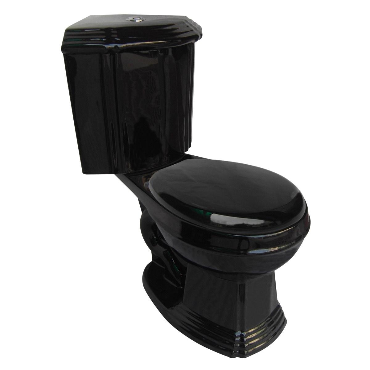Shop Black Ceramic Round Space Saving Corner Toilet   Renovator\'s ...
