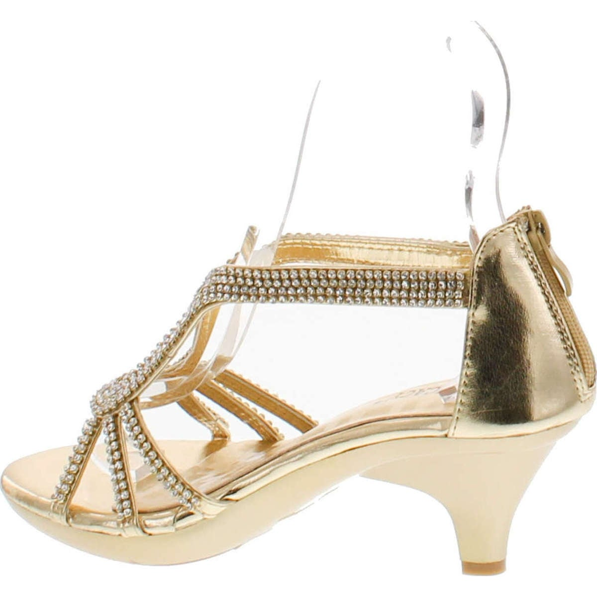 39cdd122254e4c Shop Delicacy Angel 36 Women Dress Sandal Rhinestone Low Heel Pumps - Gold  - Free Shipping On Orders Over  45 - Overstock - 14948064