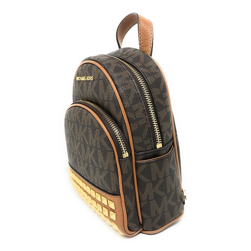bb2a6ef97c Shop Michael Kors Abbey Extra Small Studded Backpack In Brown - Free  Shipping Today - Overstock - 21157132