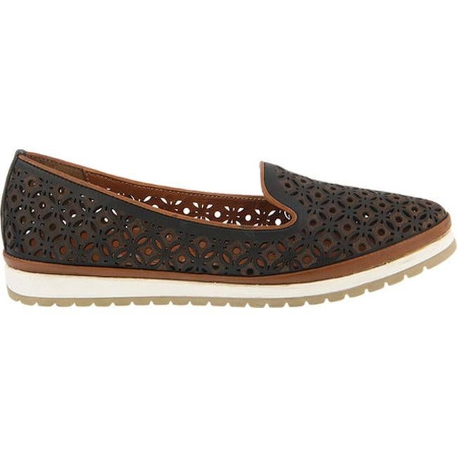 ae555372a2f1 Shop Spring Step Women s Tulisa Loafer Black Leather - On Sale - Free  Shipping Today - Overstock.com - 20084885