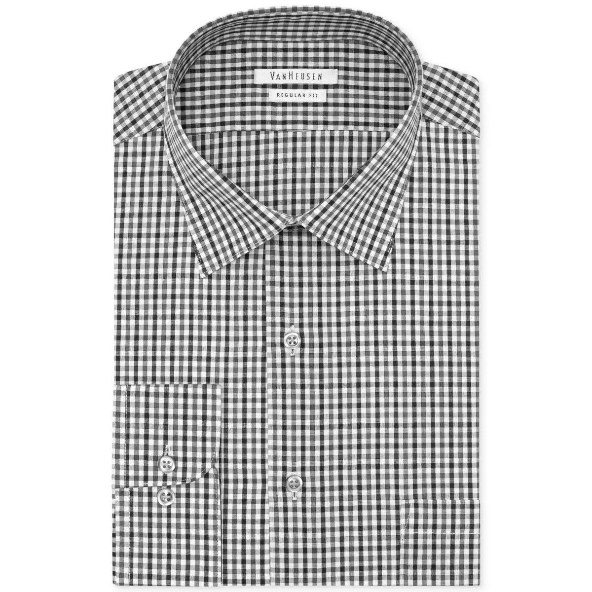 996eacaaf2 Shop Van Heusen Mens Button-Down Shirt Regular Fit Gingham - 15.5 32 33 -  Free Shipping On Orders Over  45 - Overstock - 20713121