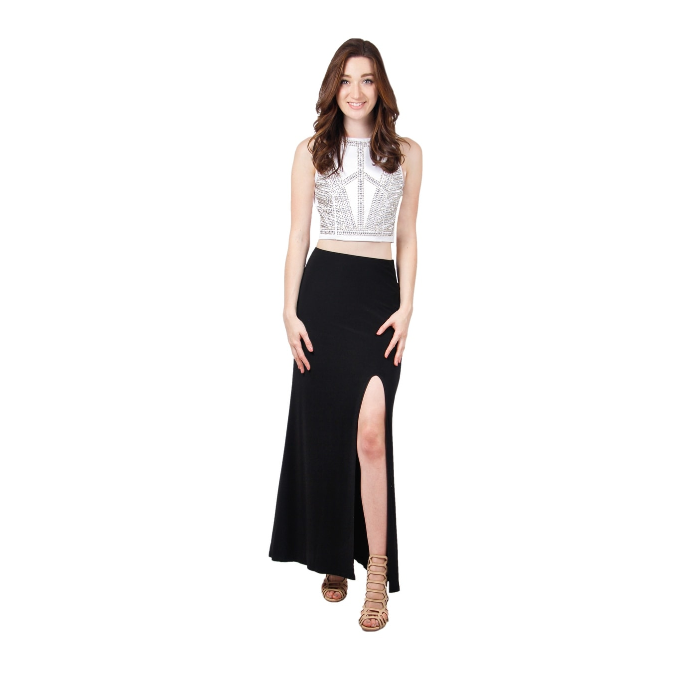 8b3a737b464 Shop Two Piece Beaded Jersey Dress - Free Shipping Today - Overstock -  14575867