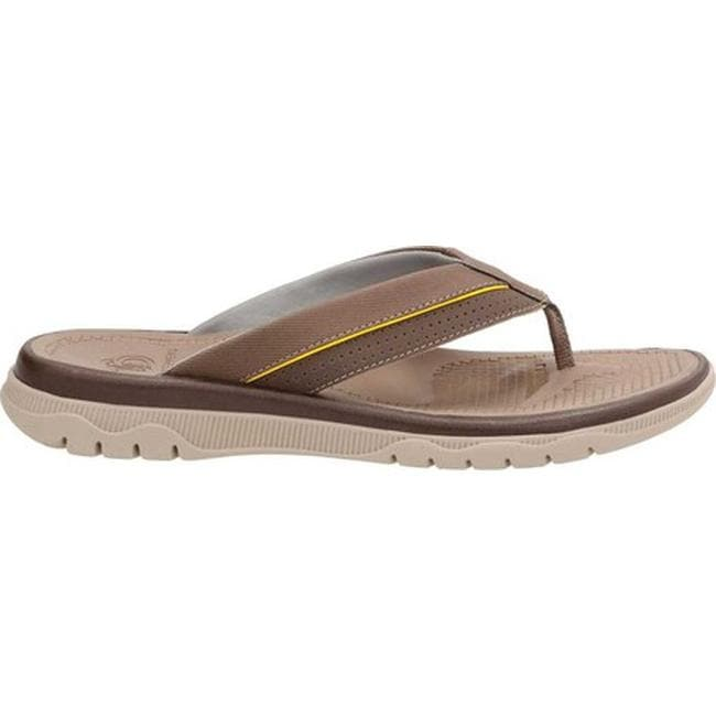 ac6c2b2a2ab Shop Clarks Men s Balta Sun Flip Flop Dark Brown Synthetic - On Sale - Free  Shipping On Orders Over  45 - Overstock - 14222681