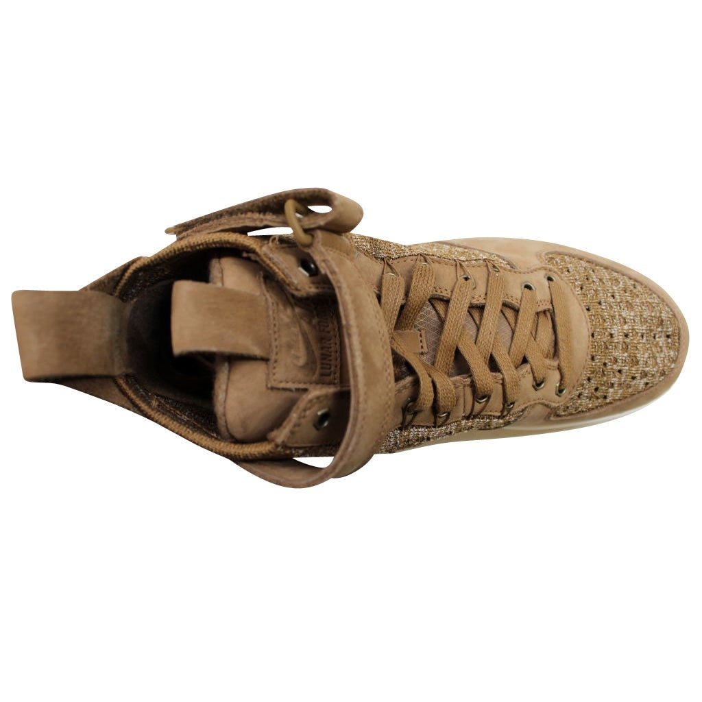194a2a5ca561 Shop Nike Men s Lunar Force 1 Flyknit Workboot Golden Beige Sail-Olive Flak  855984-200 - Free Shipping Today - Overstock - 19739988