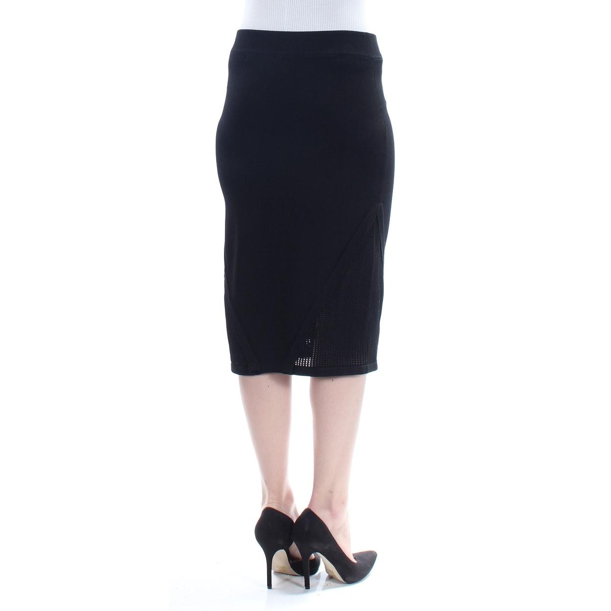 0fdf3e883b Shop RACHEL ROY Womens Black Mesh Knee Length Pencil Skirt Size: M - Free  Shipping On Orders Over $45 - Overstock - 23466411