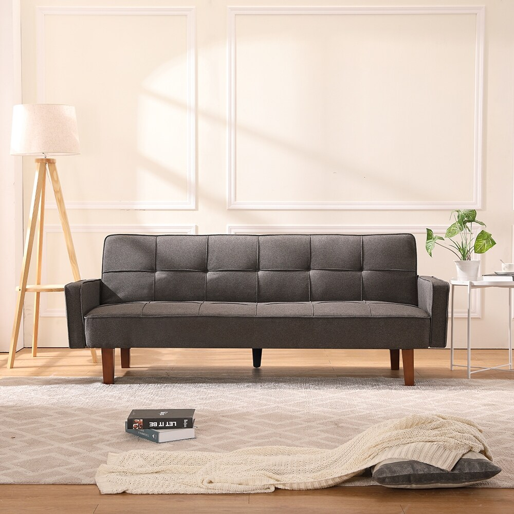 Living Room Chair,Modern Sofa Bed,Grey and Brown