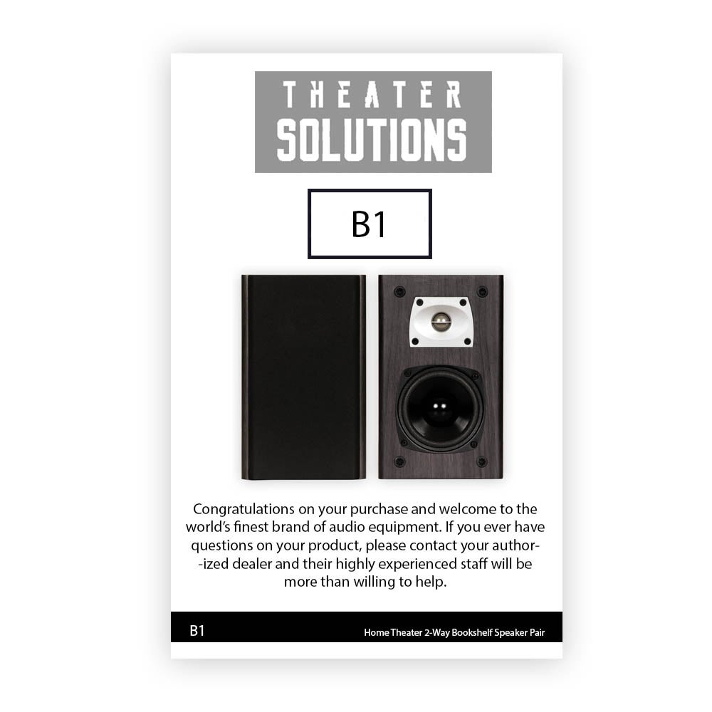 Shop Theater Solutions B1 Black Bookshelf Speakers Surround Home Speaker Pair
