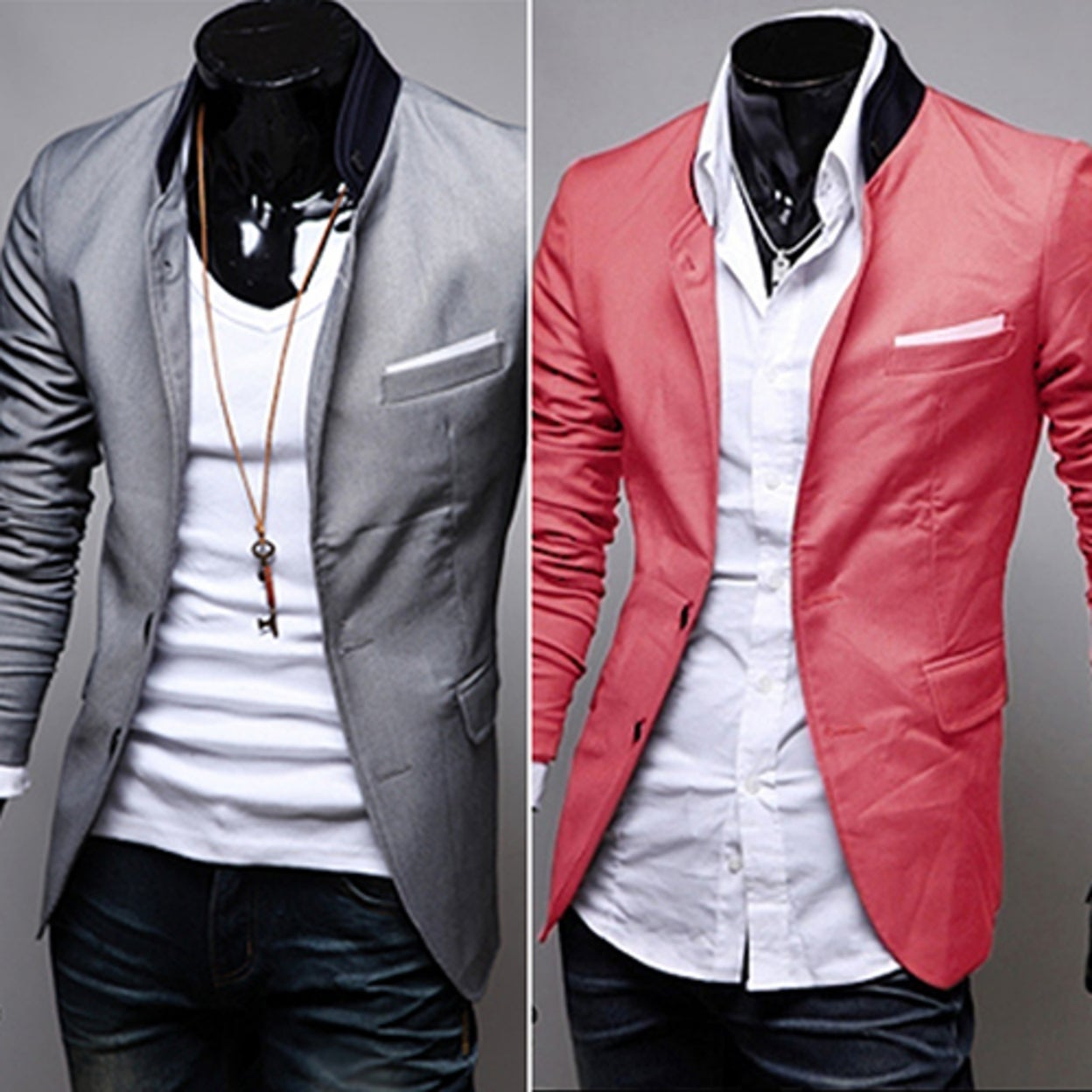 2666014d55 Shop Men s British Style Office Casual Two Buttons Pocket Slim Fit Suit  Coat Jacket - Free Shipping On Orders Over  45 - Overstock - 23031432