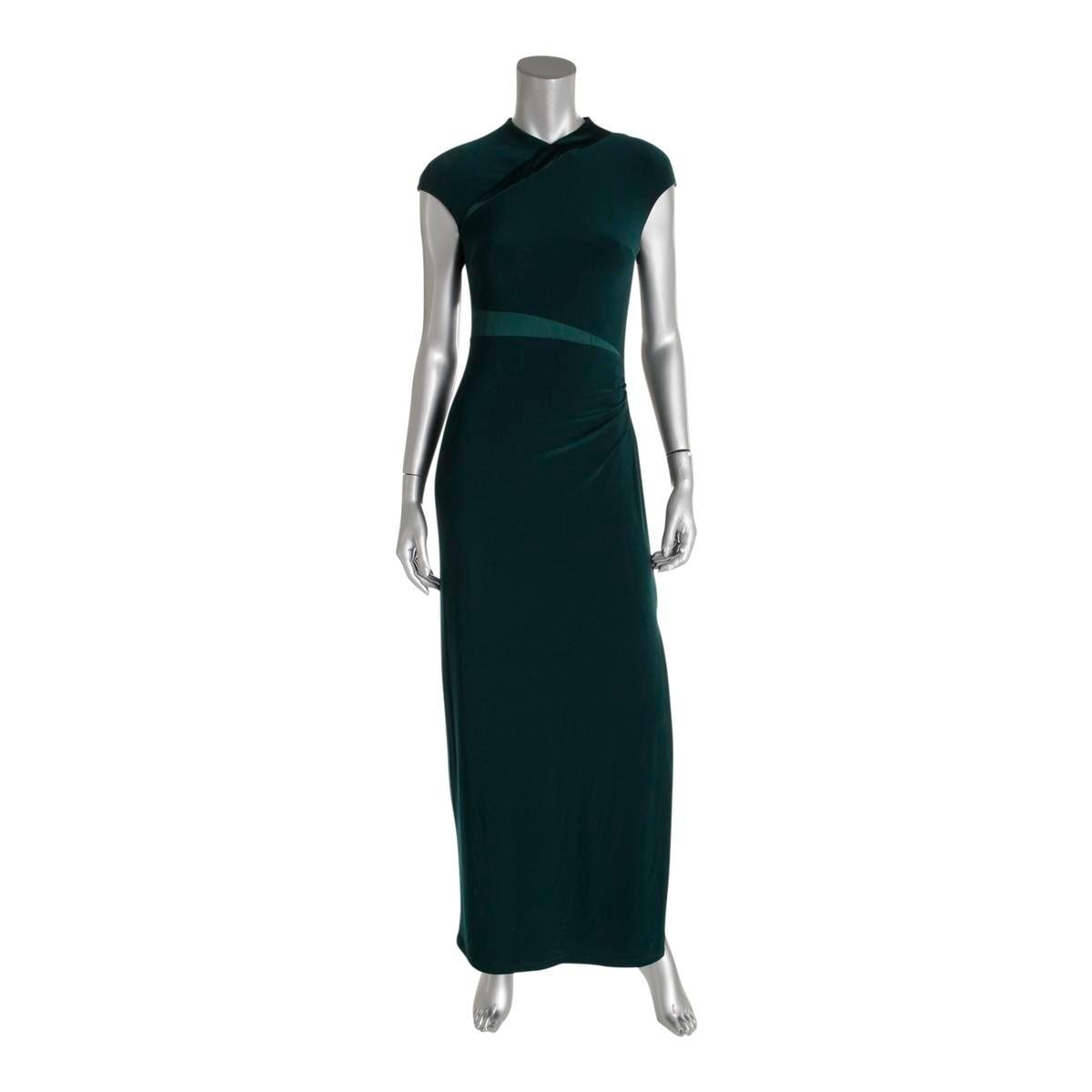 Lauren Ralph Womens Pees Lita Evening Dress Satin Trim Jersey Free Shipping On Orders Over 45 19218819