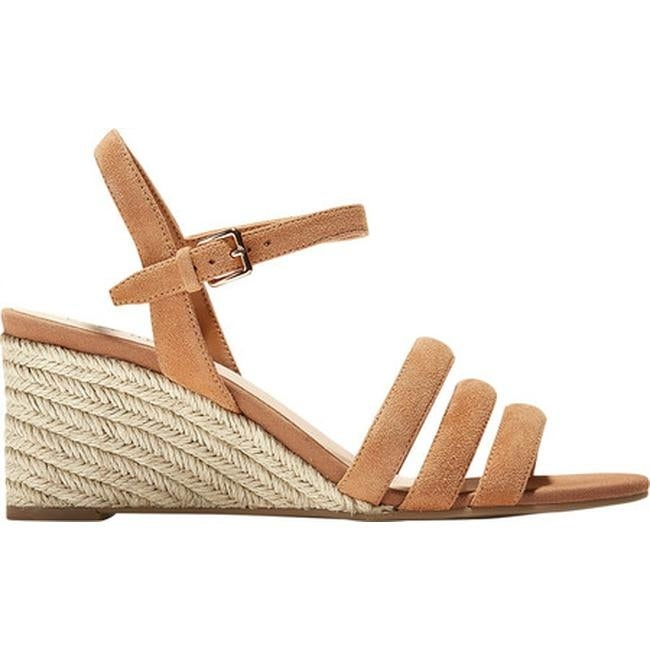 2269836860f Shop Cole Haan Women s Jasmine Espadrille Strappy Wedge Sandal Pecan Suede  - Free Shipping Today - Overstock - 27585339