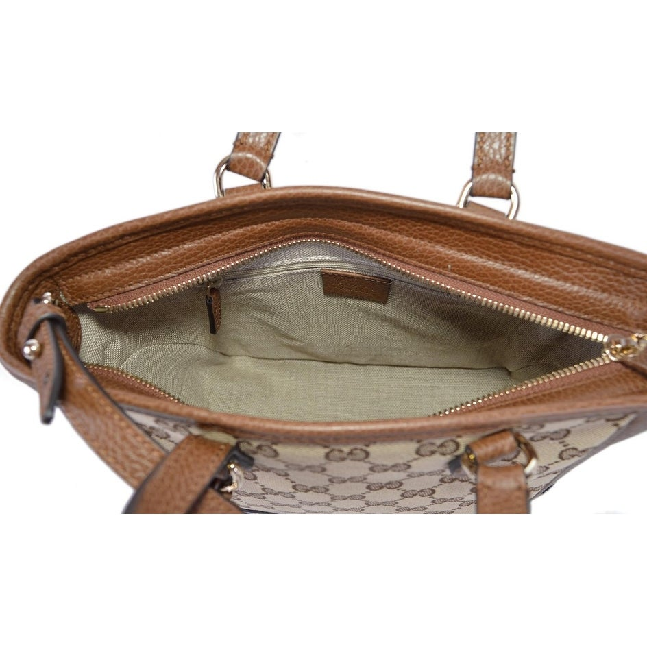 8eab6d5e713 Shop Gucci Women s 449241 Beige Brown Small Bree GG Guccissima Crossbody Bag  - Free Shipping Today - Overstock - 24336649