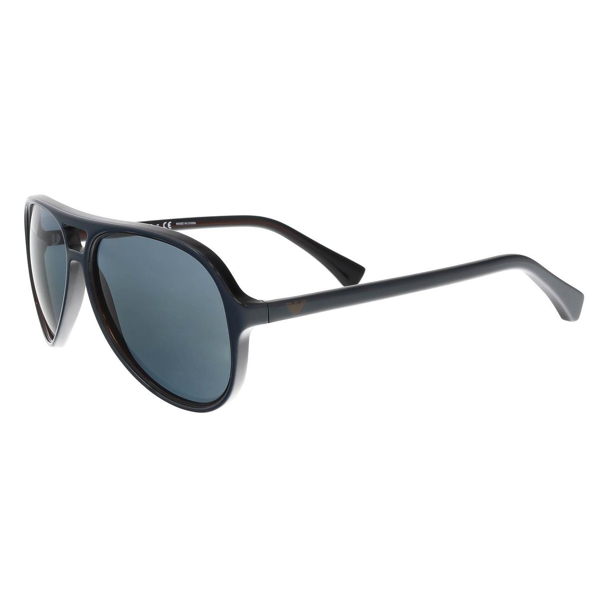e05e0305ae8 Shop Emporio Armani EA4063 546687 Navy Oval Sunglasses - 58-15-140 - Free  Shipping Today - Overstock - 19447414