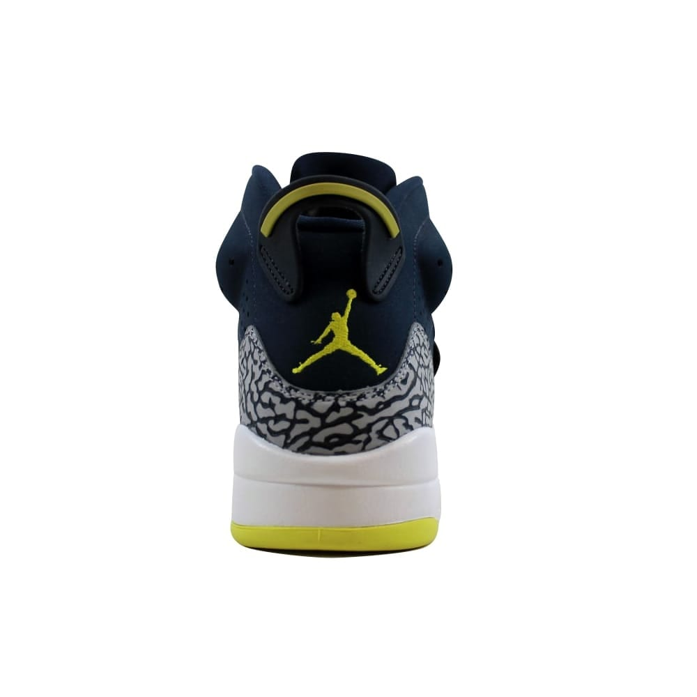 cbe342706370 Shop Nike Men s Air Jordan Son Of Mars Armory Navy Electrolime-White 512245- 405 - Free Shipping Today - Overstock - 27339293