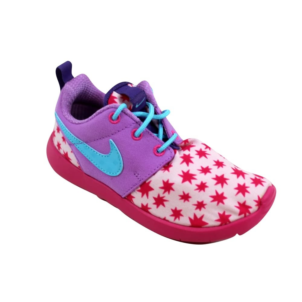 76d9747b3cb8 Shop Nike Roshe One Print Prism Pink Blue-Fuchsia 749347-604 Pre-School -  Free Shipping On Orders Over  45 - Overstock - 27601034