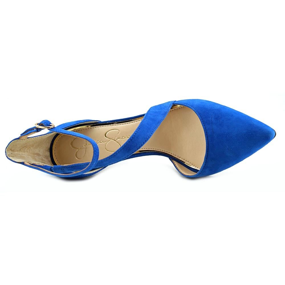 ed2b75cc7d9 Shop Jessica Simpson Castana Women Pointed Toe Suede Blue Heels - Free  Shipping On Orders Over  45 - Overstock - 13886849