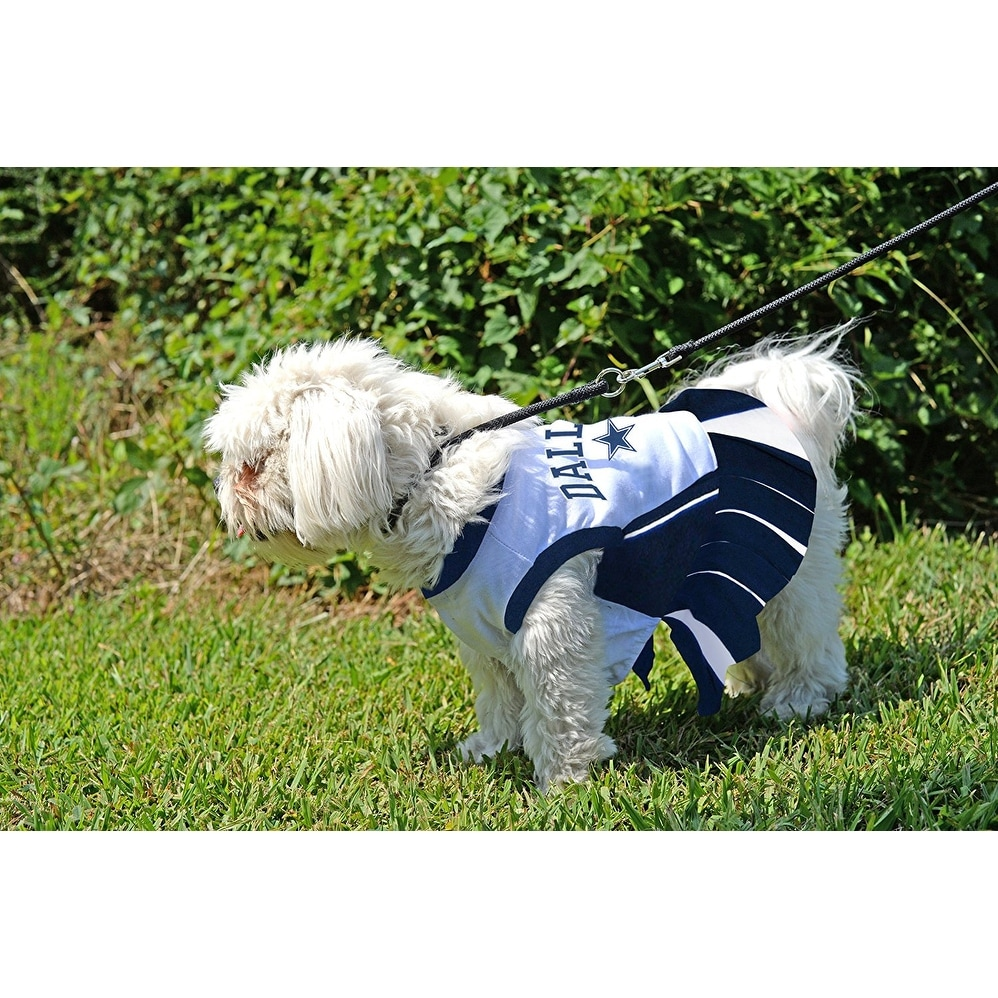 Shop NFL Dallas Cowboys Cheerleader Dress For Dogs And Cats - On Sale -  Free Shipping On Orders Over  45 - Overstock - 19991359 d32a470a1